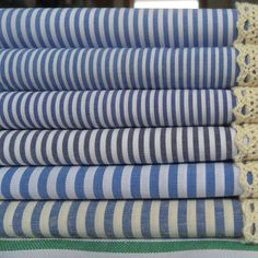 2015 New DIY Eco-friendly blue baby fresh stripe 100% cotton fabric for sewing (1 meter)