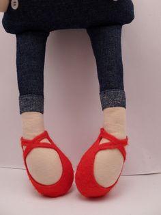 Lisbeth handmade cloth doll rag doll by catinkahinkebein on Etsy