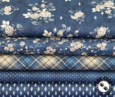 This denim inspired group featuring beautiful florals, great plaids, denim textures and pin dots is a great addition to any home. The Gina collection makes beautiful clothes and accessories too! Floral Denim, Floral Fabric, Beautiful Clothes, Beautiful Outfits, Windham Fabrics, Cosy, Printing On Fabric, Florals, Free Pattern