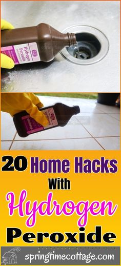Household Cleaning Tips, House Cleaning Tips, Cleaning Hacks, Household Items, Spring Cleaning, Cleaning With Hydrogen Peroxide, Cleaners Homemade, Diy Cleaners, Cleaning Appliances