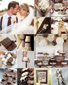Chocolate and Vanilla Wedding Colours:This indulgent colour scheme strikes the perfect balance between soft and masculine.