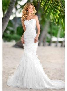 158.49 cadress.com SUPPLIES Hamilton Chic Sweetheart Sweep Train  Beach Wedding Dress
