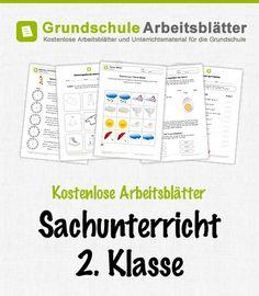 Kostenlose Arbeitsblätter und Unterrichtsmaterial für den Sachunterricht in der 2. Klasse in der Grundschule.