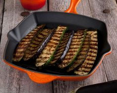 grilled vegetables with dipping sauce cooked in the le creuset cast iron square grillit
