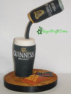 Gravity defying guinness cake! This was for my lovely dad, who turned 71! Guinness drinker most of his life :-)