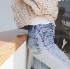 Light blue casual jeans.