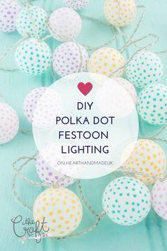 DIY Polka Dot Ping Pong Lights