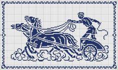 Roman charriot - Chart for cross stitch or filet crochet.