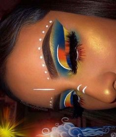 58 Best Halloween Eye Makeup Ideas 2019 - my most beautiful makeup list Makeup Eye Looks, Cute Makeup, Skin Makeup, Eyeshadow Makeup, Eyeshadows, Eyeshadow Primer, Easy Makeup, Makeup Is Art, Eyebrow Makeup