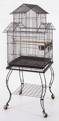 Willwin Large 20Inch Pagoda Roof Top Top Parrot Lovebird Cockatiel Cockatiels Parakeets Bird Cage with Removable Stand ** Check this awesome product by going to the link at the image.Note:It is affiliate link to Amazon.
