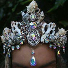 Seashell and jewel mermaid crown More