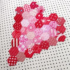 Heart Hexies at Three Owls Handmade