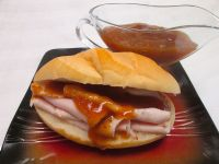 w/ some diet adjustments - Subway Bourbon Street Glaze Copycat Recipe Subway Copycat Recipe, Copycat Recipes, Hot Dog Recipes, My Recipes, Favorite Recipes, Top Secret Recipes, Homemade Bagels, Marinade Sauce, Famous Recipe