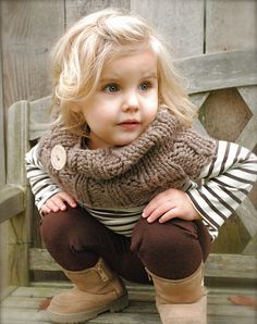 Brooklynn Cowl Knitting pattern by The Velvet Acorn, an adorable children pattern available at LoveKnitting. Find this pattern and more inspiration on the LoveKnitting website! Little Girl Fashion, My Little Girl, Toddler Fashion, Fashion Kids, Toddler Outfits, Toddler Girl, Baby Kids, Velvet Acorn, Little Fashionista