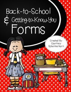 Get the year started off right with everything you need to establish and foster relationships with your parents and students!  Before your kiddos walk in the door on that first day, these forms will give you an glimpse at who they are: their likes/dislikes, strengths, hobbies, interests, and much, much more!