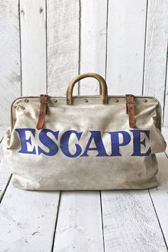 1950's ESCAPE Canvas Bag - FORESTBOUND I want!!