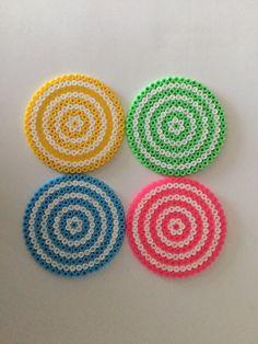 Een persoonlijke favoriet uit mijn Etsy shop https://www.etsy.com/listing/237865251/4-drinking-coasters-summer-hama-bead