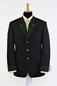 """Modell """" LEOBEN """": Ein zeitloser Klassiker neu aufgelegt!  Das klassische Lodensakko kann vielfältig variiert werden. Kombiniert mit einer langen Hose oder... Facon, Suit Jacket, Breast, Blazer, Suits, Jackets, Men, Long Pants, Vest"""