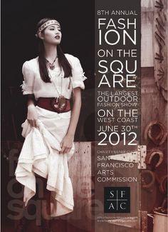 Postcard for Fashion on the Square fashion show