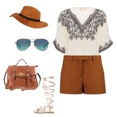 """""""Safari style"""" by junkiastros on Polyvore featuring Love Sam, Emilio Pucci, Gianvito Rossi, Black Rivet, Tiffany & Co., women's clothing, women, female, woman and misses"""