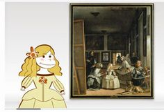 Pintores famosos: Velázquez para niños. Obras para colorear. Cómo trabajar las Meninas. Vídeos que analizan algunos cuadros...
