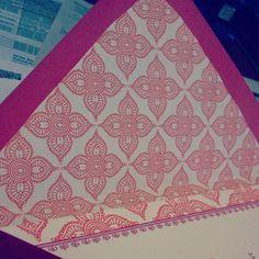 envelope liner for colored envelope