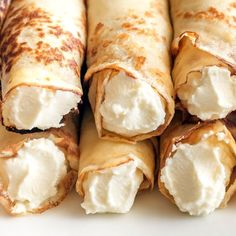 Recommended Tips:Low Carb Almond Flour Cream Cheese Crepes - Recommended Tips Low Carb Sweets, Low Carb Desserts, Low Carb Recipes, Cooking Recipes, Coconut Recipes, Vegan Recipes, Keto Cookies, Cheesecake Cookies, Keto Cheesecake