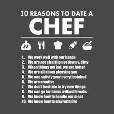 Afbeeldingsresultaat voor 10 reasons to date a chef