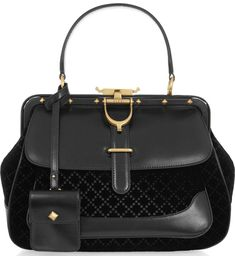 aea4539ff300 Gucci leather and quilted velvet tote Latest Handbags, Gucci Handbags  Outlet, Gucci Purses,