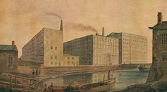McConnel & Company mills, about 1820 - History of Manchester - Wikipedia, the free encyclopedia Manchester Worker Bee, Cotton Mill, Rochdale, Salford, Elizabeth I, History Museum, Art Museum, Industrial Revolution, Colorful Drawings