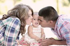 baby girl, kiss, family session, Kristin Vining Photography, Charlotte Wedding Photographer