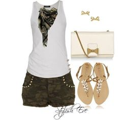 Cute camo outfit for Summer