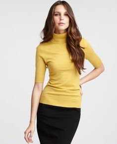 Colorful Turtleneck with a Pencil Skirt!