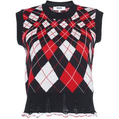 This **MSGM** Oversized Argyle Sweater features a crewneck neckline, argyle print, and drop shoulder sleeves. Sweater Vest Outfit, Vest Outfits, Business Dress Code, Business Dresses, Pullover Sweaters, Argyle Sweaters, Msgm, Sweater Weather, Clothing Items