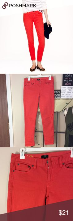 J.Crew toothpick jean size 26 Very gently used J.Crew toothpick jeans size 26 Inseam is 28 Waist is 14 1/2 Rise is 7 inches Very orange perfect for spring and summer J. Crew Jeans Skinny