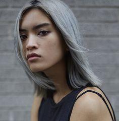 silver hair   Marga Esquivel   Photographed by Kai Z Feng