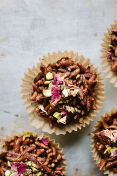 Cardamom, pistachio + rose chocolate crackles (vegan + gluten-free) | My Darling Lemon Thyme