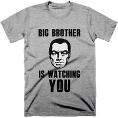 Big brother is watching you t-shirt.  instruction manual and those that have read the book can see that everything written in it is turning from fiction to fact.  Let the public know there being surveilled on a daily basis with this classic 'big brother is watching you t-shirt.  #bigbrotheriswatchingyou #1984 #surveillancestate #fuckthenwo #tshirt #truthtshirts  TRUTHTSHIRTS.COM