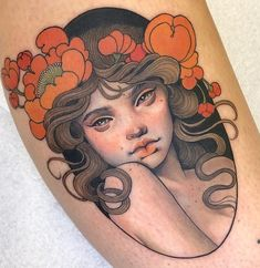Portrait Drawings That Will Make You Want To Start Drawing – Bein Kemen Traditional Tattoo Portrait, Traditional Tattoo Woman, Traditional Tattoos, Neo Traditional Art, American Traditional, Body Art Tattoos, Hand Tattoos, Portrait Tattoos, Portrait Tattoo Sleeve