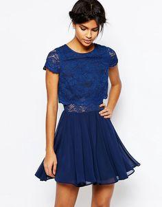 Image 1 - ASOS - Mini robe en dentelle avec top court