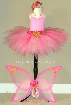 FLOWER FAIRY - TUTU by Fairy Nana, via Flickr-- cute, but our fairies need their shoulders covered, it will be March but love the skirt and wings!