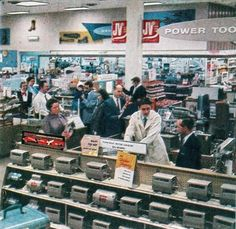.. greeted customers of the new montgomery ward stores in the late 1950 s