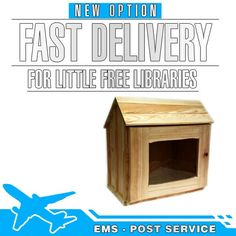 Good news! We improve the delivery for LITTLE FREE LIBRARIES. The delivery time will be from 5 to 10 business days, worldwide. The unfinished libraries are in stock. See our libraries here http://etsy.me/2m3TBDf