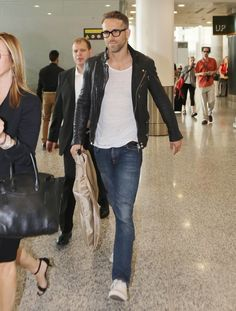 Pin for Later: Ryan Reynolds Shows Off His Sexy Smolder in a Casual Appearance
