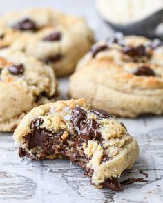Almond Flour Cookies, Gluten Free Chocolate Chip Cookies, Chocolate Chip Cookie Dough, Gluten Free Cookies, Gluten Free Desserts, Small Batch Cookie Recipe, Small Batch Baking, Nutritious Snacks, Healthy Sweets