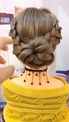 Easy Hairstyles For Long Hair, Little Girl Hairstyles, Cute Hairstyles, Braided Hairstyles, Beautiful Hairstyles, Indian Hairstyles, Heatless Hairstyles, Updo Hairstyle, Latest Hairstyles