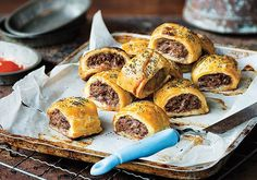 How good are sausage rolls.... Especially good when made with premium lean kangaroo mince. Sauce please! #sustainable #kangaroo #kangaroomince #delicious #aussie  Recipe on our website (in profile) by gourmetgame