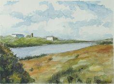 Acquarelli - dipinto ad acquerello paesaggio di campagna sarda - un prodotto unico di ollina-ink su DaWanda