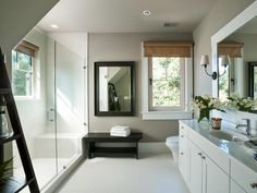 HGTV Dream Home Guest Suite Bathroom Pictures : Dream Home : Home & Garden Television Fawn brindle sw? Home, Bathroom Pictures, Guest Suite, House Bathroom, Small White Bathrooms, Beautiful Bathrooms, House, Bathroom Design, White Bathroom Interior