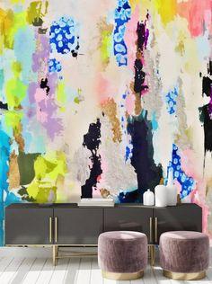 Real gold wallpaper, metallic wallpaper, abstract accent wall, diy accent wall, statement wall, livingroom wallpaper, accent wall wallpaper, pastel wallpaper, sidebord art, sidebord design, glam interior design, glam design, chic design, hair salon design, med spa design, bold statement wall, entryway design foyer design, hallway design, nook design, gold accents, purple accent wall, rainbow accent wlal, abstract rainbow wall mural, hand painted rainbow wallpaper, rainbow statement wall Watercolor Wallpaper, Gold Wallpaper, Colorful Wallpaper, Peel And Stick Wallpaper, Rainbow Wallpaper, Large Wall Decals, Removable Wall Murals, Hawaiian Ice, Kids Wall Murals